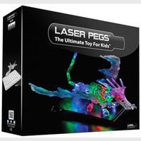 Wholesale Laser Pegs in Dragon Building Set Dinosaurs Building Kit Learning Education Intelligence LED Lighted Kids Toys Lepin Blocks sets