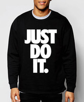Wholesale Just Do It letter print new autumn winter fashion sweatshirt hoodies hip hop style tracksuit slim cool clothing
