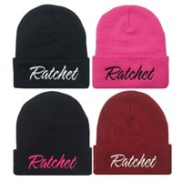 adjustable ratchet - New Brand Fashion Casual Men And Women Winter Hats Knitted Warm Ratchet Beanies Hat Wool Hip Hop Caps