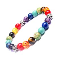 Wholesale Muti color Mens Bracelets Lava Chakra Healing Balance Beads Bracelet For Women Reiki Prayer Yoga Bracelet Stones Bracelet