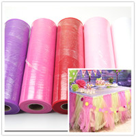 Wholesale 12 yards girls soft tutu tulle roll fabric colors tulle for tutu skirt Wedding Decoration