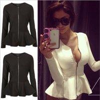 Wholesale 2015 New Fashion Autumn Korean Style Slim Jacket casual Women Coat sexy zipper women Jackets outwear