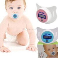 Wholesale Practical Baby Infant Newborm Kid LCD Digital Safety Health Mouth Nipple Dummy Pacifier Thermometer Temperature