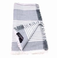 Wholesale Square Scarf Models - High quality European and American fashion scarf cashmere shawl gray stripes super square scarf new models