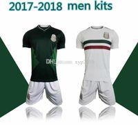 Precio de Camiseta para correr verde-Kits de los hombres 2018 México lejos casero lejos calidad tailandesa 2017-18 México camisa blanca blanca del fútbol Camisa de funcionamiento del desgaste de CHICHARITO O.PERALTA SoccER