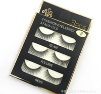 Wholesale 3 pairs D Cross Handmad Fashion False Eye Lashes Extension Makeup Super Natural Long Fake Eyelashes