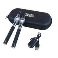 Wholesale 2PCS Vaporizer mah Battery Glass Globe Wax Tank Starter Kit Vape Vapor Pen USB Charger