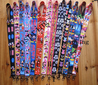 Wholesale New Cartoon Popular Mickey Minnie Cello Phone key chain Neck Strap Keys Camera ID Card Lanyard Y