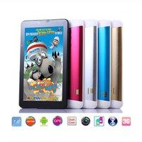 7 pouces 3G Phablet Téléphone Appel Tablet PC MTK6572 Dual Core Android tactile capacitif GPS Bluetooth WIFI double carte SIM HD 1024x600