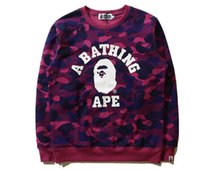Wholesale AAPE Hot Sales men hedging sweater autumn and winter fashion wave of street brand raglan alien destroyer baseball uniform jacket