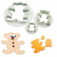 Wholesale FedEx Express Teddy Bear Cookie Fondant Cake Icing Cutter Mold Gumpaste Biscuit Decor Set family time mon girlfriend gift