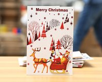 Wholesale Christmas new style D Stereoscopic new pink gold foil Hot stamping wishing card greeting card with envelope DIY eight styles mix order