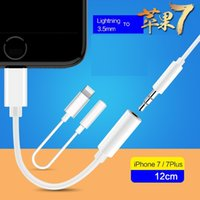 Wholesale New accessory mm headset Converter Connector cm Cable For apple iphone plus Cellphone Lightning to Earphones plug Adapter Cable