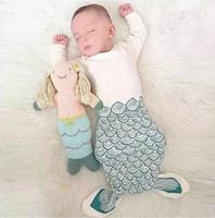 Wholesale 2016 New Infant Baby Mermaid Sleepsack Sleeping bags Baby cotton Sleeping Bag Animal sleeping blanket baby clothing for Newborn Q0547