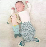 Wholesale New Arrival Infant Baby Mermaid Sleepsack Sleeping bags Baby cotton Sleeping Bag Animal sleeping blanket baby clothing for Newborn Q0547