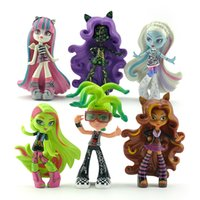 Wholesale New arrival Monster High set cm PVC action figures toys collection kids gifts cake decorations