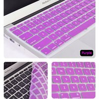 Wholesale Laptop Soft Silicone Colorful KeyBoard Case Protector Cover For MacBook Pro Air Retina keypboard covers