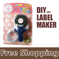 adhesive label maker - Apparel Sewing Fabric Tag Guns x Tape Writer for mm self adhesive tape office gift label adhesive tagging gun DIY label maker