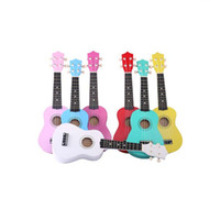 Wholesale 21 Inch Soprano Ukulele Starter String Small Guitar For Beginners Kids Malani Musical Instruments Wood Toys