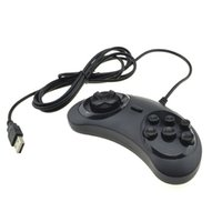 Wholesale 6 Buttons USB Classic Gamepad Game Controller Joypad for the SEGA Genesis MD2