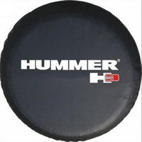 Wholesale Black Spare Tire Cover Fit For Hummer H3 Logo Wheel Tire Cover Heavy vinyl Tire Cover