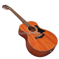 Wholesale Handmade OEM custom inch mahogany wood acoustic guitar China made guitars