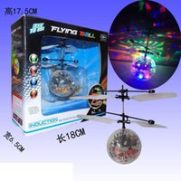 aircraft control cables - Magic Hand Induction Bird Electronic Aircraft Flash Remote Control Helicopter Frisbee Toy Children Toys Induction Vehicle Y047