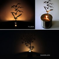 Wholesale 1Piece Creative Imitate Lumen Oil Candle Shadow Projectors LED Shadow Lamp Romantic Atmosphere Led Table Lamp