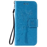 Wholesale Phone Case for Apple iPhone S Wallet Function Carvings Pattern Solid Color Artificial Leather with Handle Strap Opp Bag