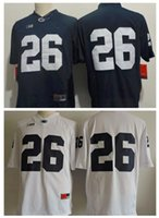 Wholesale Men Penn State Nittany Lions Saquon Barkley No Name Navy Blue White College Football Stitched NCAA Jerseys Adult size S XL