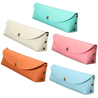 Wholesale Multifunction Leather Brush Pen Bag Pencil Case Organizer Brush Holder Pouch Storage Girl Gifts Stationery School Supplies