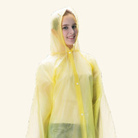 Wholesale New PE Thickened Non Disposable Raincoat Outdoor Tourist Raincoat Travel Tour Camping Hiking Rain Cover Detachable Non Disposable Raincoat