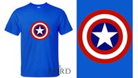 Wholesale New Men s Cotton O Neck Short Sleeve T Shirt Comfortable Steve Rogers T Shirt SL072