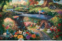 alice single - HD Print Disney Alice in Wonderland Home Wall decorative Art painting On High Quality Canvas Multi size framed