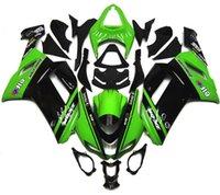 al por mayor plásticos zx6r-Nuevos kits plásticos del carenado de la bici de la motocicleta del ABS cabidos para el kawasaki Ninja ZX6R ZX-6R 636 2007 2008 07 08 6R Carrocería fijada color verde negro