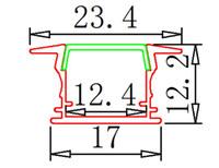 aluminum industrial extrusion - m factory price LED Aluminum Extrusion Profile for LED strips LED Aluminum Profile