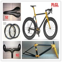 Wholesale Back Gold model C60 carbon complete bike with T1000 K UD C road bike carbon Frames mm carbon road bike Wheels