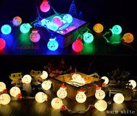 bedroom string lights - Snowman LED String Lights LED Decorative Light bedroom small lantern flash string lights red hat snowman light string
