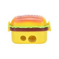 Wholesale Plastic holes simulation Hamburger Pencil Sharpener cutters Pencil Sharpeners x3 x4cm