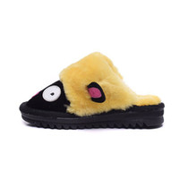 Wholesale Cute Cartoon Kids Slippers Winter Warm Indoor Lovely Novelty Fur Slippers with Soft Plush for Children