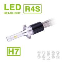 al por mayor lámpara hid kits de conversión-1 Set H7 R4S 90W 10400LM LED faros Auto Super Slim Kit de conversión único haz de conducción niebla bombilla 45W 5200LM Reemplazar HID Xenon halógeno