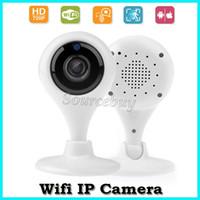 al por mayor dos cámaras de vigilancia-HD inalámbrico 720P Wifi cámara de seguridad IP P2P LED monitor de vigilancia CCTV Smart cámara de apoyo TF tarjeta de grabación de audio de dos vías gratis nave