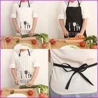 Wholesale Black White Stripe Cooking Apron Novelty BBQ Party Apron Women Men Kitchen Restaurant Home Cooking Apron