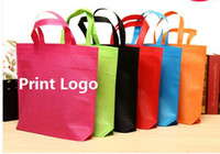 Wholesale Non woven Customize bags Shopping bags print logo Clothing Eco Bag gifts On stock advertising bags