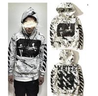 Wholesale Kanye West Fear of God White Hoodies OFF WHITE Hoodie Justin Bieber Chris Brown Hip hop hoodie