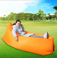 Wholesale Inflatable sofa the lazy inflatable bed Portable sleeping bag Camping fold Leisure and outdoor lazy sofa products Beach air sofa bed
