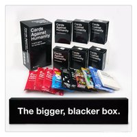 Wholesale Cards For Humanities Bigger Blacker Box And US CA Uk AU Basic Edition Cards Of Humanity Expansion And Mini Packs Top Quality