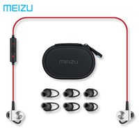 Wholesale Original Meizu EP51 Wireless Sports Headphone Bluetooth4 support aptX Noise Cancelling MIC Aluminium Alloy shell TPE Line Meizu