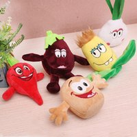 Wholesale piece Cute Mini Cartoon Plush Vegetable Toys PP Cotton Plush Toys Children Toys Gifts