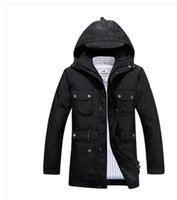 beijing jacket - 2017 New Fashion brand Beijing JEEP Geographical duck down thicken hooded winter jacket men outdoor plus size coat parkas M XL
